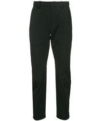 Attachment Cropped Tailored Trousers Black