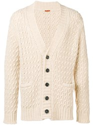 Barena Cable Knit Cardigan Nude And Neutrals