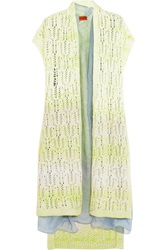 Missoni Crochet Knit Cashmere Blend Vest Green