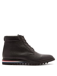 Thom Browne Grained Leather Blucher Boots Black