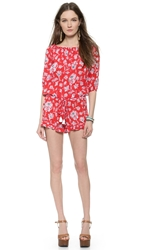 Faithfull Cabana Romper Summer Dreams Print Red