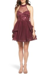 Dear Moon Women's Sequin And Mesh Horsehair Braid Dress
