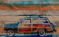Parvez Taj Surf Day Wall Art Reclaimed Douglass Fir Medium 32 X 24 Multicolor