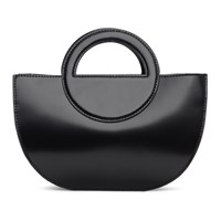 Kara Black Half Moon Wristlet Bag