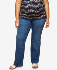 Motherhood Maternity Plus Size Medium Wash Boot Cut Jeans