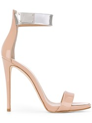 Giuseppe Zanotti Design Cam Party Ankle Strap Sandals Women Leather 39 Nude Neutrals
