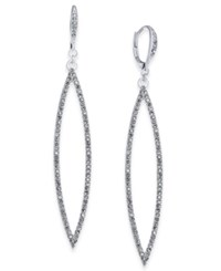 Inc International Concepts Silver Tone Pave Navette Drop Earrings Only At Macy's