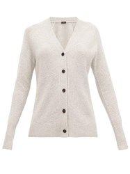 Joseph Raglan Sleeve Cashmere Cardigan Light Grey