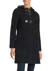 Miscellaneous Hooded Wool Blend Toggle Coat