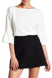 Gibson Boxy Bell Sleeve Blouse White
