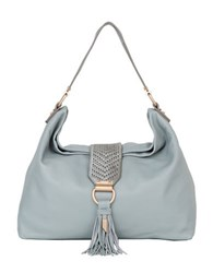 Foley Corinna Ella Leather Hobo Bag Misty Grey
