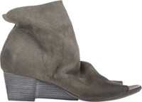 Marsell Women's Notched Wedge Ankle Boots Grey Size 9.5