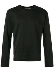 Issey Miyake Men Long Sleeved Sweater Men Cotton Polyester 3 Black