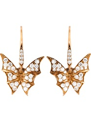 Stephen Webster Diamond Wing Earrings Metallic
