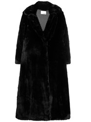 Each X Other Oversized Vegan Mink Coat Black
