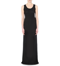 Ann Demeulemeester Stretch Crepe Sleeveless Gown Black