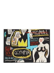 Olympia Le Tan Basquiat Canvas Clutch Black Multi