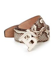 Bally Python Belt Brown White