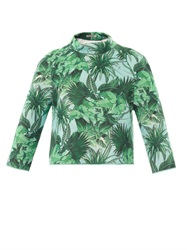 Emma Cook Tropical Print Neoprene Sweatshirt