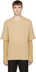Opening Ceremony Camel Double Layer Crewneck