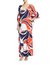 Rachel Pally Tillie 3 4 Sleeve Printed Maxi Dress Mod Print Women's