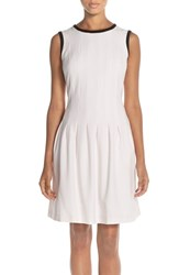 Women's Marc New York Stretch Crepe Fit And Flare Dress Barely Pink