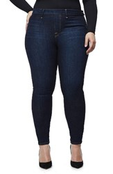 Good American Women's High Waist Side Zip Skinny Jeans Blue051