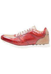 Melvin And Hamilton Gavin Trainers Red Beige