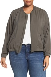 Sejour Bomber Jacket Plus Size Green
