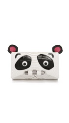 Kara Ross Panda Clutch White