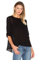 Enza Costa Long Sleeve Trapeze Top Black