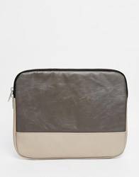 Asos Ipad Case In Gray Waxed Cotton Gray