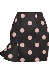 Vivetta Eva Polka Dot Neoprene Mini Skirt Black