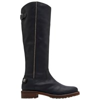Joules Compton Leather Knee Boots Black