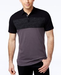 Alfani Black Men's Colorblocked Polo Only At Macy's Kettle Combo