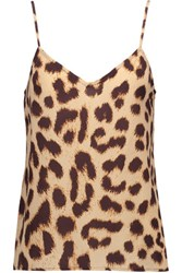 Equipment Layla Printed Washed Silk Top Leopard Print