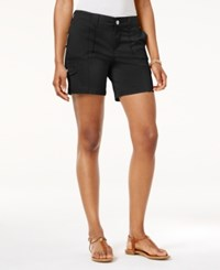 Style And Co Petite Zig Zag Cargo Shorts Only At Macy's Deep Black