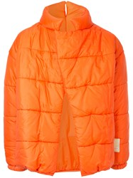 Walter Van Beirendonck Vintage Boxy Padded Jacket Yellow And Orange