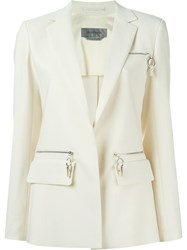 Sportmax Zipped Pockets Blazer White