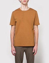 Christophe Lemaire Henley Tee Shirt In Tobacco