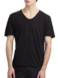 Alexander Wang Basic Low Neck Tee White Black