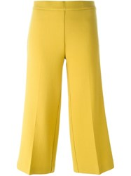 P.A.R.O.S.H. Flared Cropped Trousers Yellow And Orange