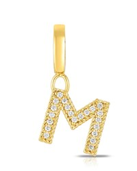 Roberto Coin 18K Gold And Diamond Letter M Charm