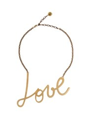 Lanvin Love Necklace Yellow Gold