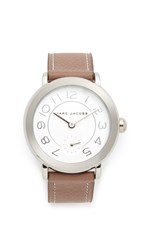 Marc Jacobs Riley Watch Stainless Steel White Cement