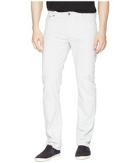 Ag Adriano Goldschmied Everett Slim Straight Leg Twill Pants Pale Cinder Casual Pants White