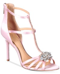 Jewel By Badgley Mischka Hazel Strappy Evening Sandals Women's Shoes Pale Pink