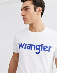Wrangler Logo T Shirt In White
