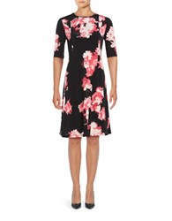 Ellen Tracy Floral Printed Fit And Flare Dress