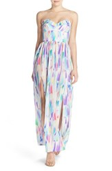 Women's Amanda Uprichard 'Gisele' Strapless Silk Maxi Dress